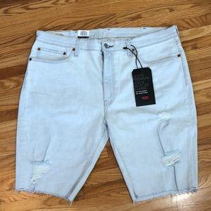 NWT Levi's 511 Slim Sz 38 Cut-Off Denim Shorts
